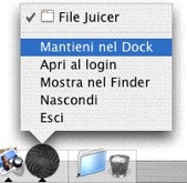 Keep File Juicer in dock